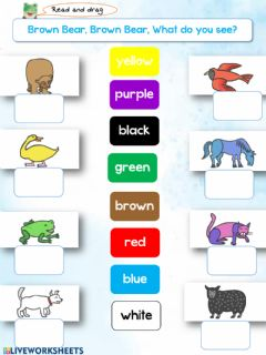 Interactive worksheet Brown bear, Brown bear, What colour do you see?