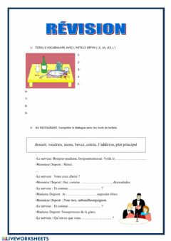 Interactive worksheet Révision 3º eso