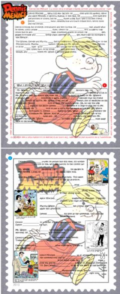Interactive worksheet Dennis the Menace (with movie clip)