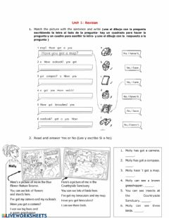 Interactive worksheet Unit 1- Revision