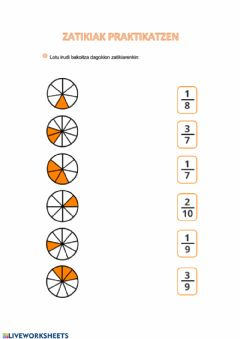 Interactive worksheet Zatikiak