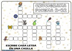 Interactive worksheet Crucigrama r-rr