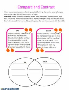 Interactive worksheet Venn diagram practice