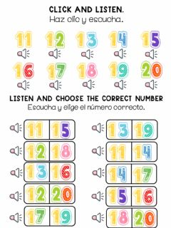Interactive worksheet Listen and choose the correct one