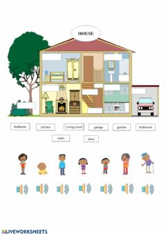 Ficha interactiva Family and house