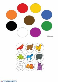 Interactive worksheet Animales por colores