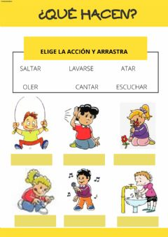 Interactive worksheet Acciones