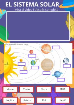 Interactive worksheet Planetes