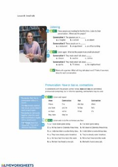 Interactive worksheet Make small talk with new people