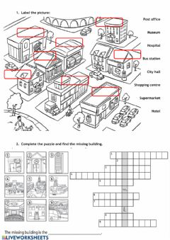 Interactive worksheet City places