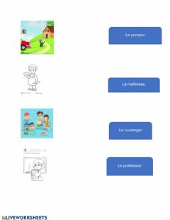 Interactive worksheet Les metiers