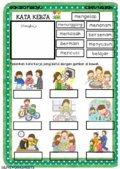 Interactive worksheet Kata Kerja