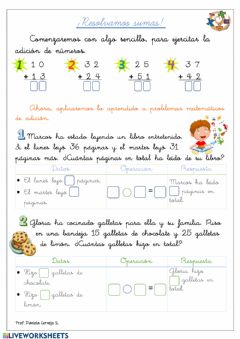 Interactive worksheet Resolvamos problemas aditivos