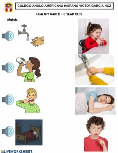 Ficha interactiva Healthy Habits 1 - 5 year olds