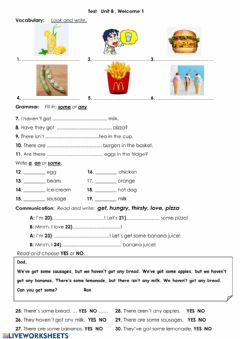 Interactive worksheet Welcome 1 Unit 8 Test