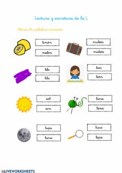 Interactive worksheet Lectura L