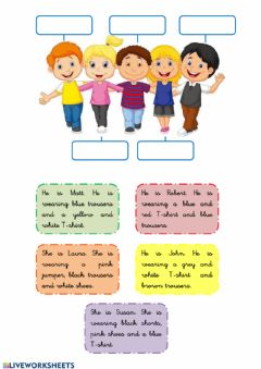 Interactive worksheet CLOTHES Read and write the names