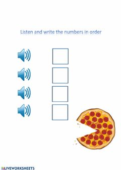 Interactive worksheet What have you got on your pizza?