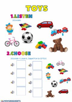 Ficha interactiva Toys 4 years old
