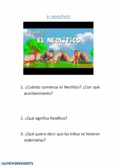 Interactive worksheet Neolítico