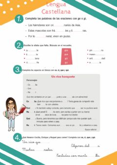 Interactive worksheet Gramática
