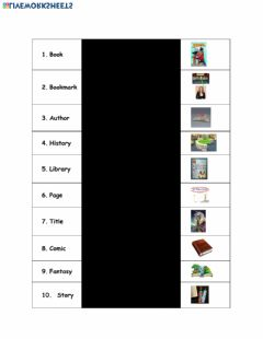 Interactive worksheet Book Day Vocabulary
