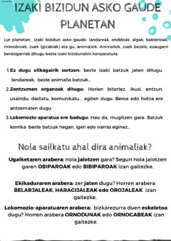 Interactive worksheet Animalien sailkapena 1