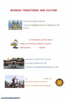 Interactive worksheet Spanish traditions and culture