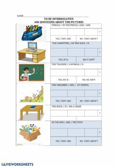 Interactive worksheet To be questions