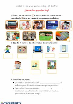 Interactive worksheet Sociales 28 de abril