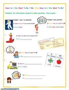 Interactive worksheet Yes - No questions vs Wh- questions