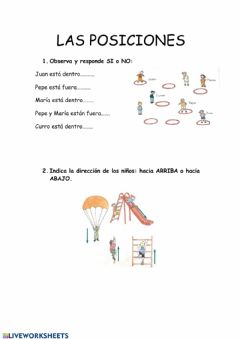 Interactive worksheet POSICIONES