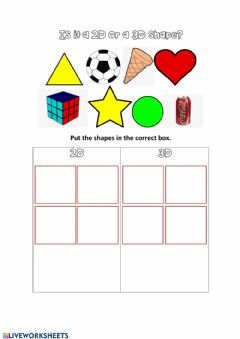 Interactive worksheet 2D or 3D