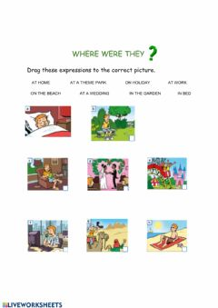 Interactive worksheet Where were they?