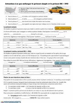 Interactive worksheet Présent simple ou continu