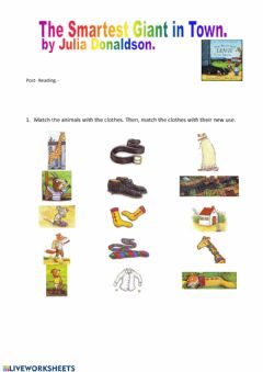 Interactive worksheet The Smartest Giant in Town.- Post reading