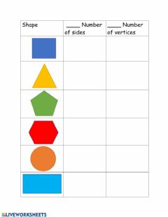 Interactive worksheet Sides and vertices