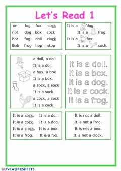 Interactive worksheet Let's read 1