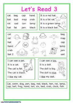 Interactive worksheet Let's read 3