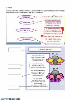 Interactive worksheet La poesía.