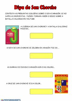 Interactive worksheet San chorche