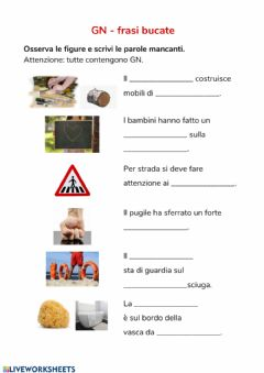 Interactive worksheet GN frasi bucate
