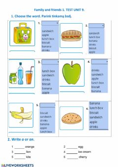 Interactive worksheet Family and friends 1 Unit 9