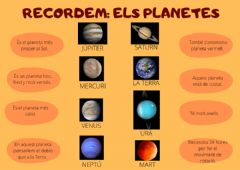 Interactive worksheet Els planetes
