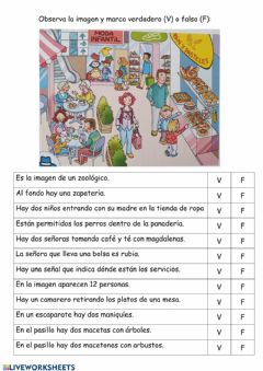 Interactive worksheet Lectura comprensiva