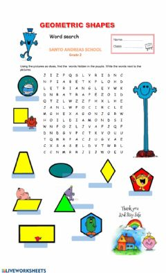 Interactive worksheet Geometric Shapes