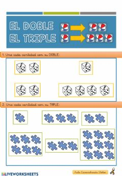 Interactive worksheet Doble y Triple