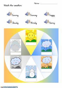 Interactive worksheet Weather 2