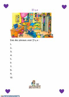 Interactive worksheet Il y a