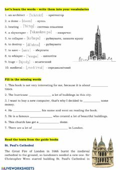 Interactive worksheet Go sightseeing - 2